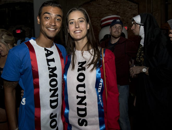 Sometimes you feel like a nut, sometimes you don't. Derek Stenson and Emily Greve attend a Halloween party at Rhinegeist last year.