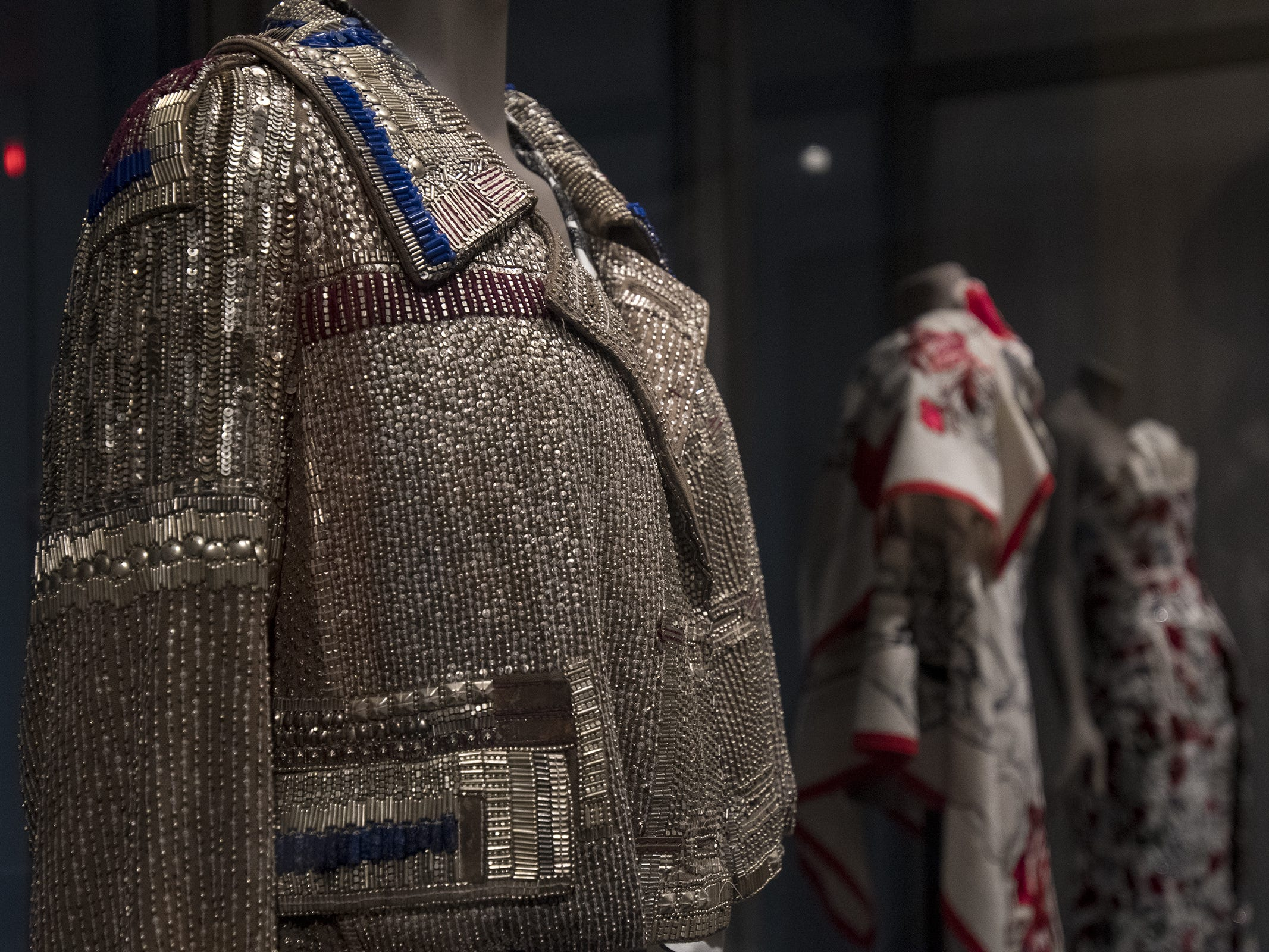 This jacket by designer Dries Van Noten is a part of the new Fabrics of India exhibit at the Cincinnati Art Museum.