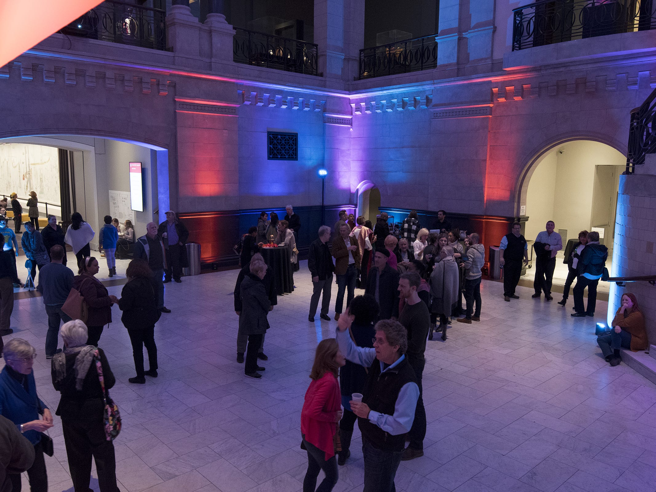 Hundreds attend Art After Dark at the Cincinnati Art Museum on Friday.