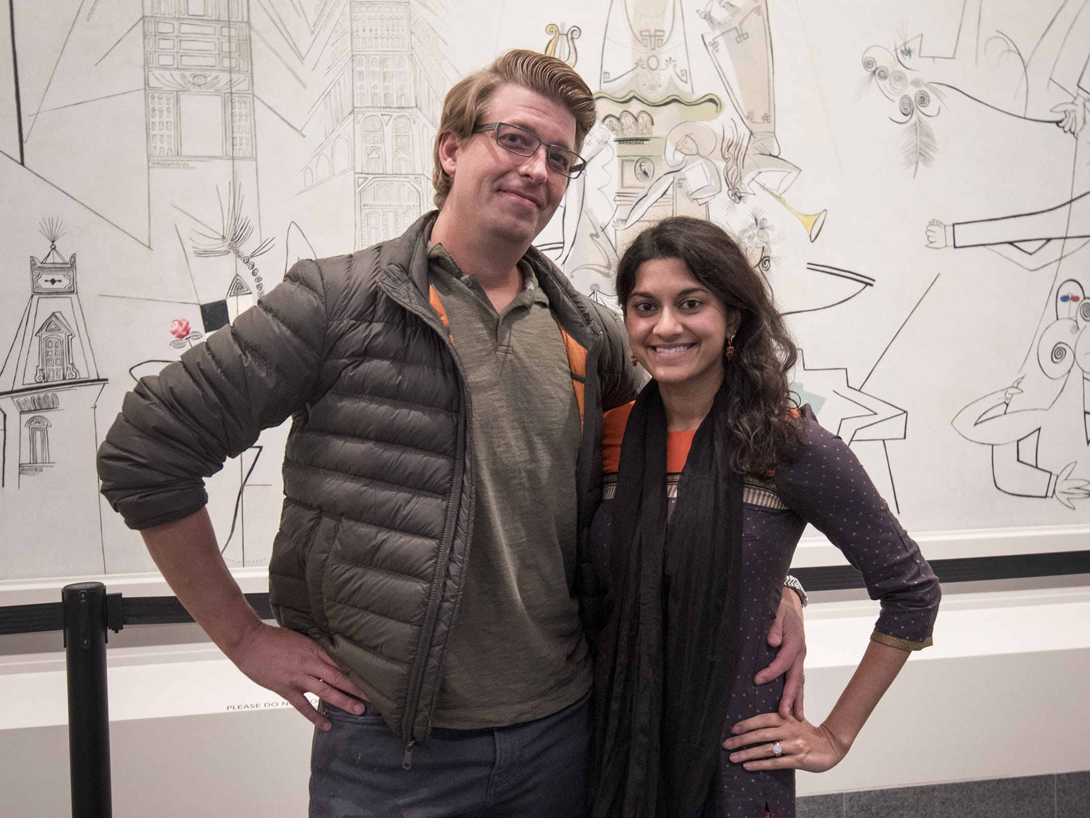 Brian and Janaki Warner of Anderson attend Art After Dark at the Cincinnati Art Museum.
