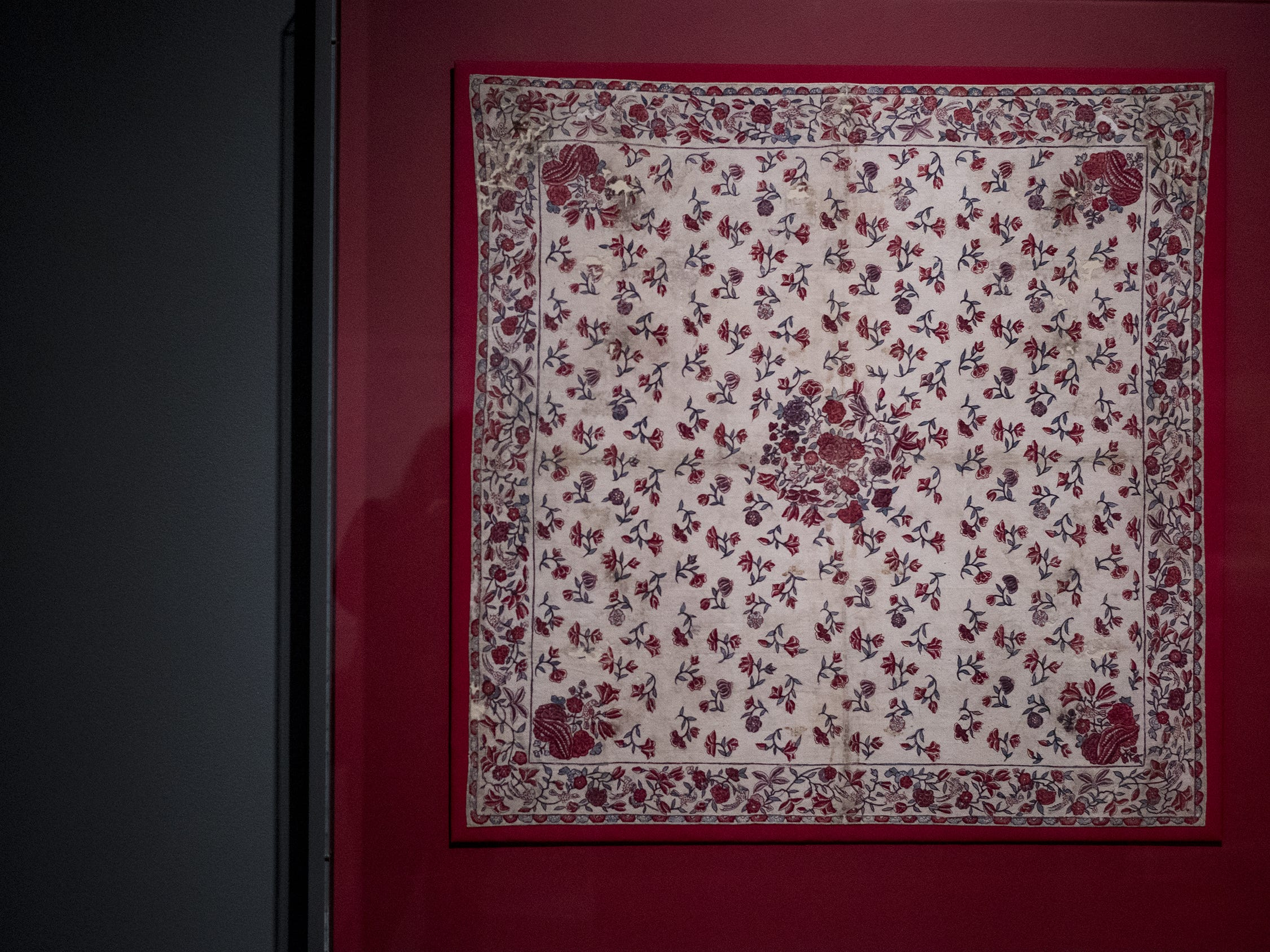 This Chintz handkerchief is a part of the new Fabrics of India exhibit at the Cincinnati Art Museum.
