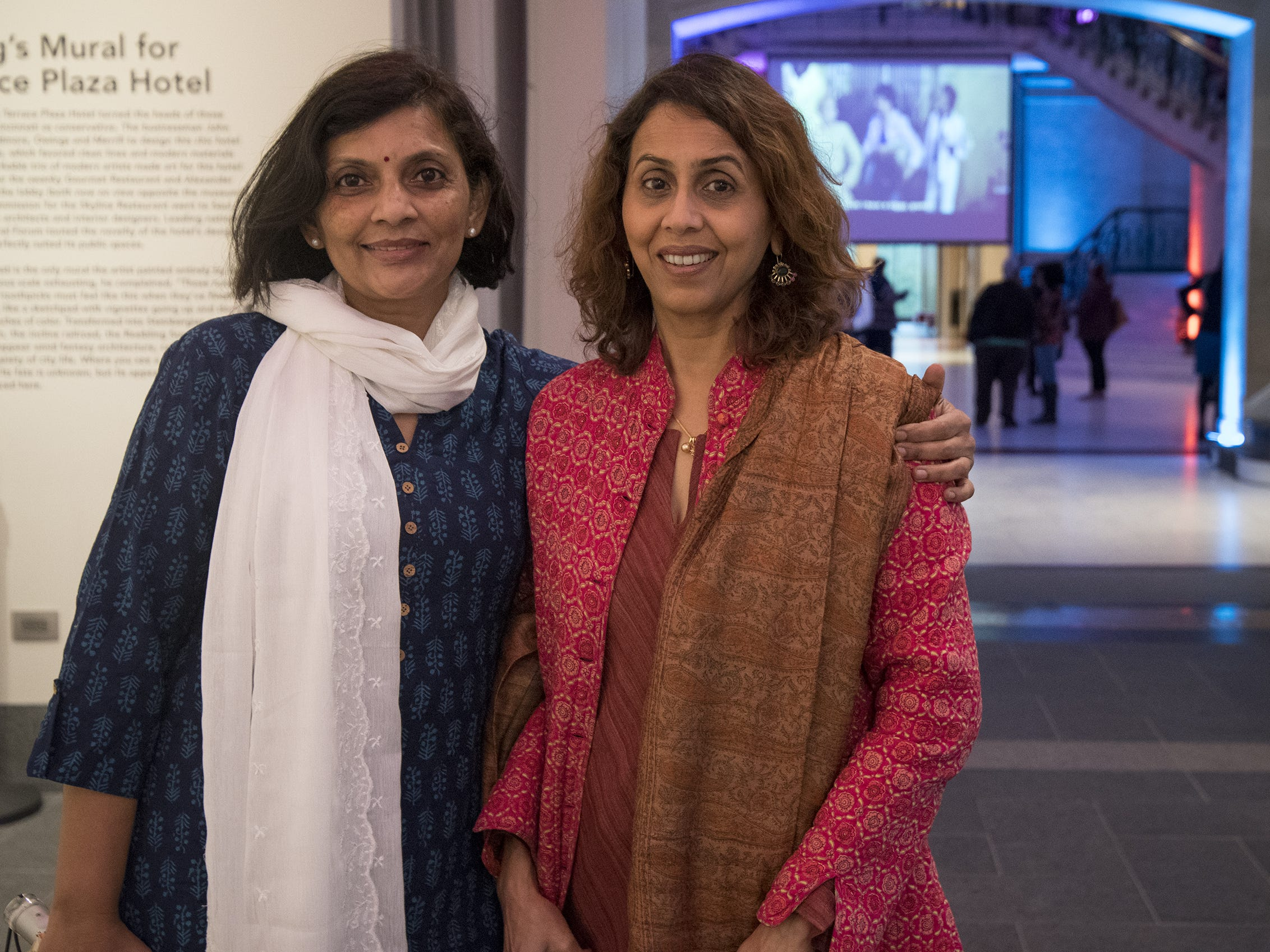 Kanchan Rajdhyakslas and Sheela Mehta attend Art After Dark at the Cincinnati Art Museum on Friday.