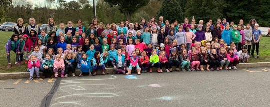 The Hopewell Valley Girl Scoutsheld their annual camp out on the property of the Village Learning Center on the weekend of Oct.13 and 14.