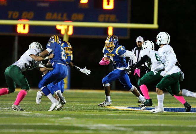 East Brunswick at North Brunswick football on Friday, Oct. 26, 2018.