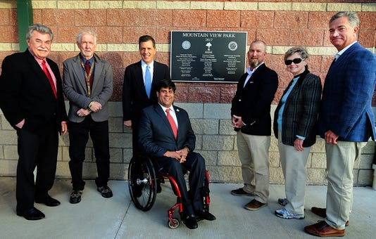 Plaque unveiled at Mountain View Park PHOTO CAPTION