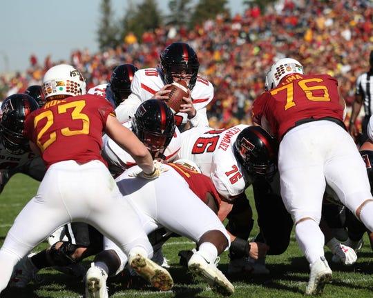 The Iowa State defense gave star freshman quarterback Alan Bowman fits late in Saturday's win.