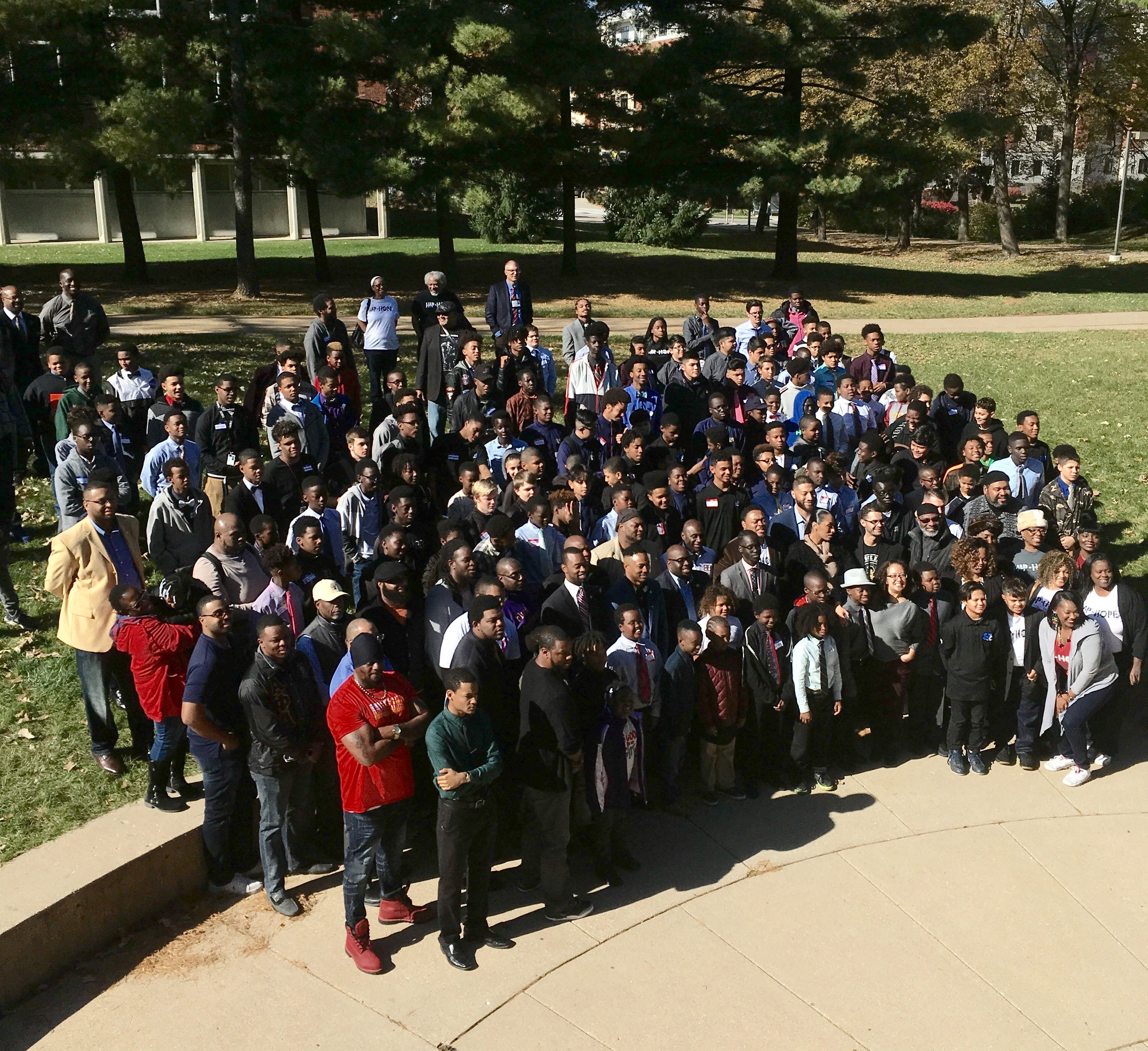 Among the over one hundred people who attended the Greater Des Moines Conference for Young Men of Color were members of the Brother 2 Brother program, other young men from the Des Moines area and even from Moline, Illinois.