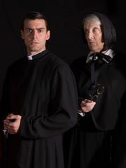 """Joe Sfair and Maggie Gilkes in Open Book Theatre's production of """"Doubt."""""""
