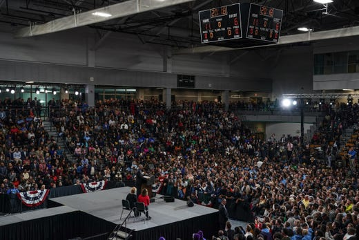 44. President of the United States Barack Obama Speaks During Michigan Meeting The Michigan Democratic Party Vote Rally on Friday, October 26, 2018 at Detroit Cass Tech High School.