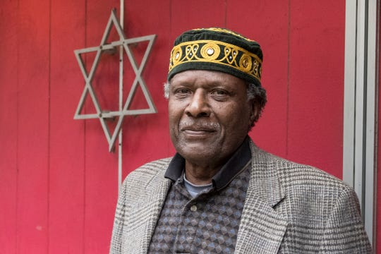 DaVid Powell, a board member of Isaac Agree downtown Synagogue in Detroit, Saturday, Oct. 27, 2018.