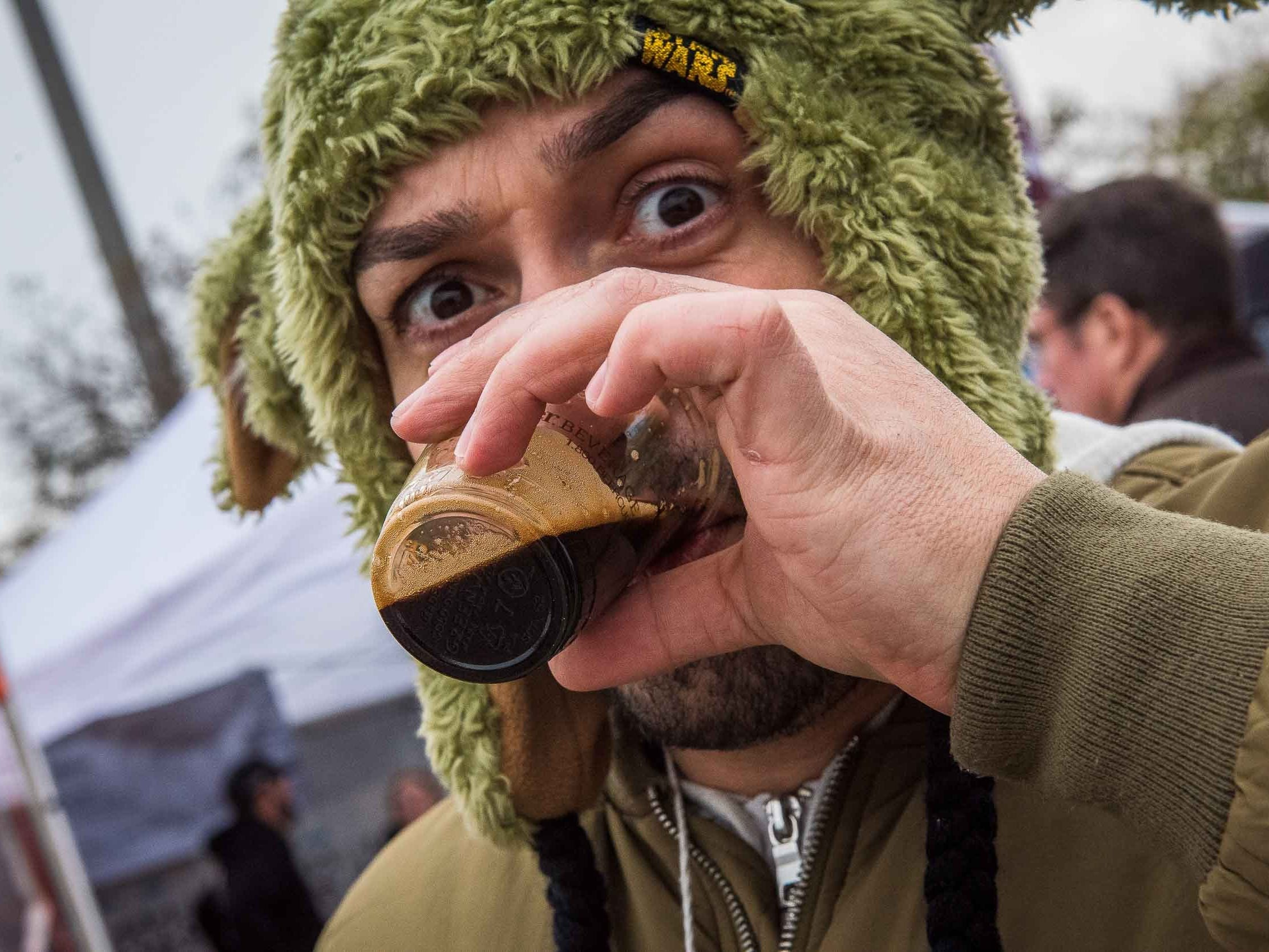 The Michigan Brewers guild annual Detroit fall beer festival returmed to Eastern Market Oct. 26, 2018. More than 110 Michigan based breweries present over 800 different craft beers for guests to sample.