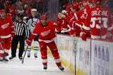 How & when Frans Nielsen & Andreas Athanasiou will fit into Red Wings' lineup. Filmed Nov. 7, 2018 in Detroit.