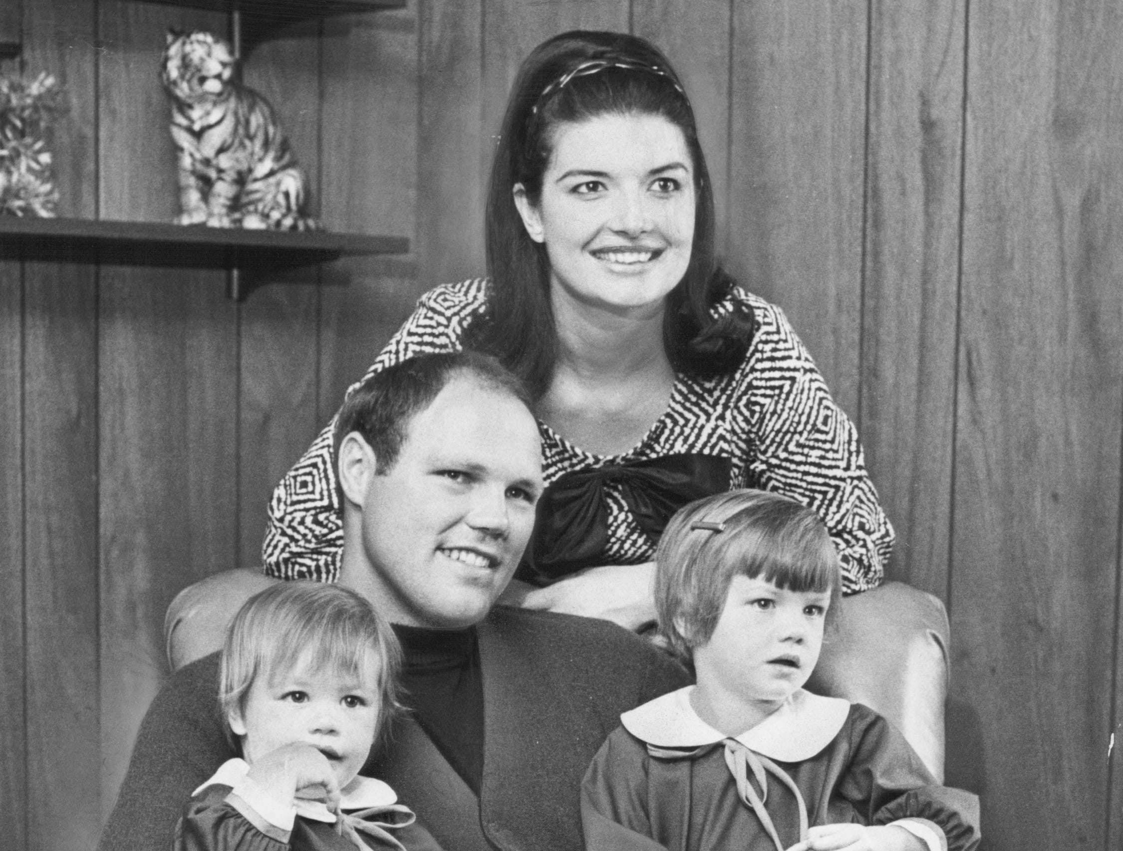 Bill and wife Pat with daughters