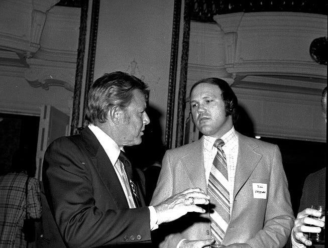 Catcher Bill Freehan joins manager Ralph Houk for a discussion in 1974.