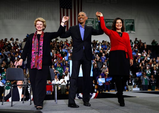 Barack Obama Gretchen Whitmer Debbie Stabenow