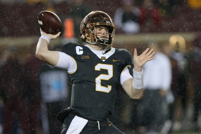 Minnesota quarterback Tanner Morgan throws during Friday night's win over Indiana.