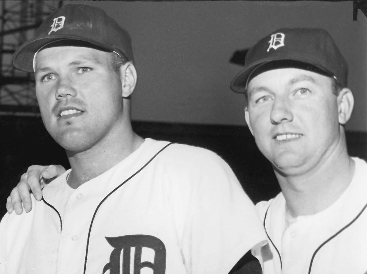 Between them, Bill Freehan (left) and Al Kaline were named to play in 19 All- Star games.