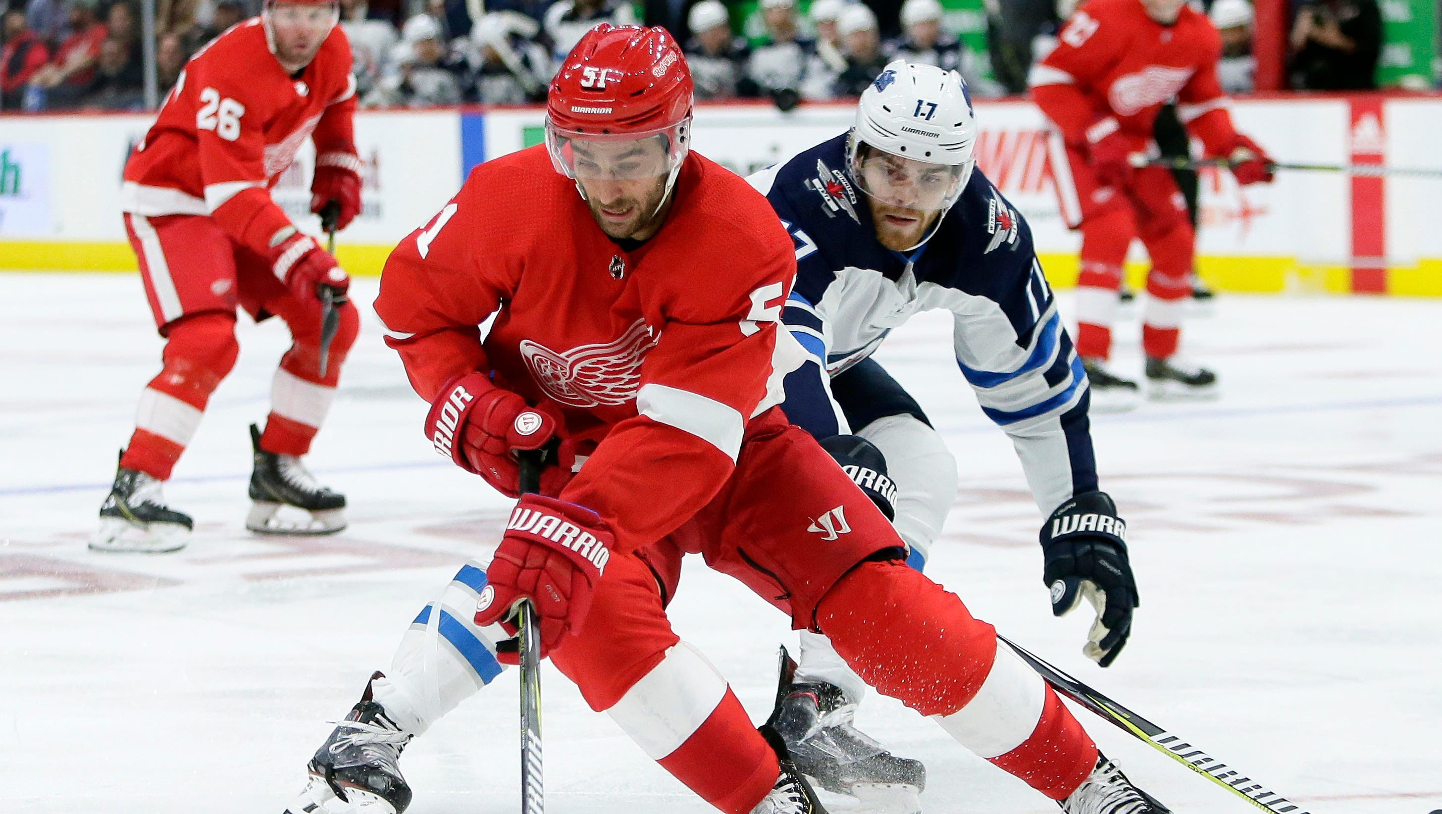 Red Wings' Frans Nielsen anxious to play, but understands need to be careful