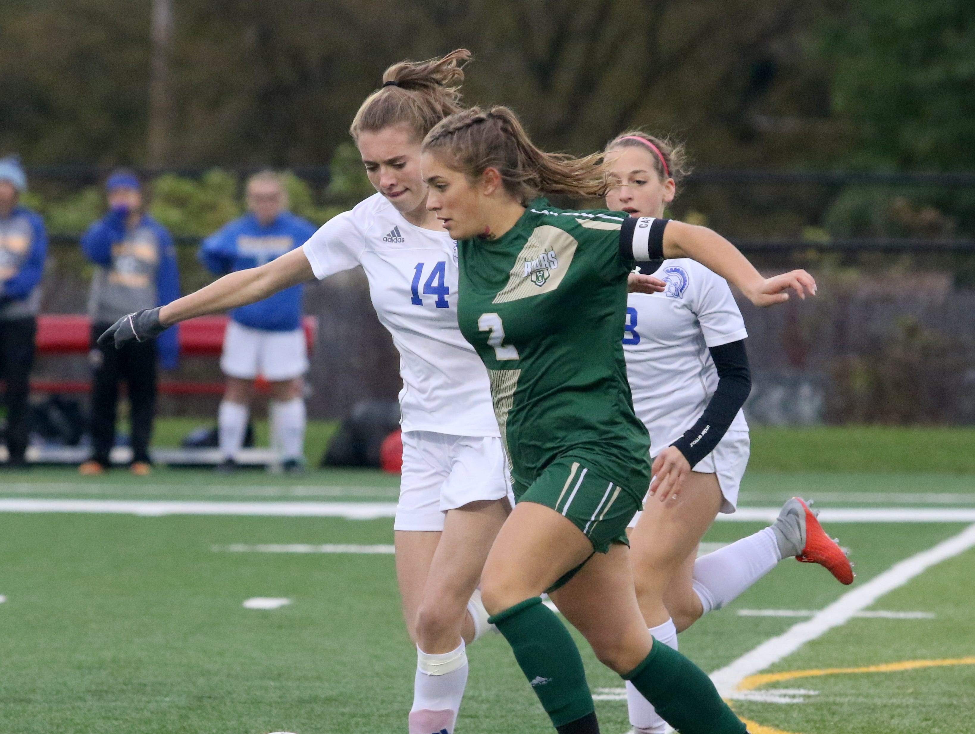Vestal was a 7-3 winner over Maine-Endwell in the Section 4 Class A girls soccer championship game Oct. 26, 2018 at Waverly Memorial Stadium.