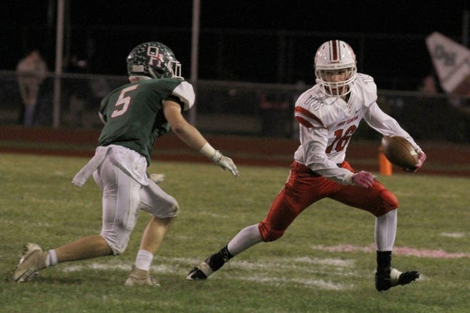 Oak Harbor junior linebacker Clay Schulte is News-Messenger/News Herald player of the year on defense.