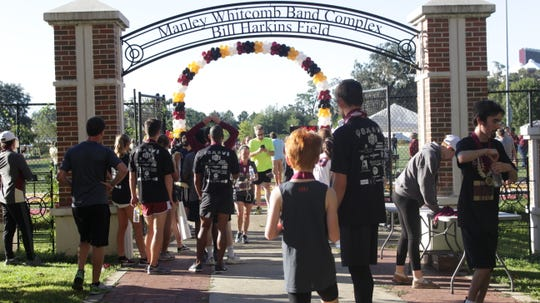 Kappa Kappa Psi held their second annual 5K on the Bill Harkins Field to benefit the Marching Chiefs and the College of Music.