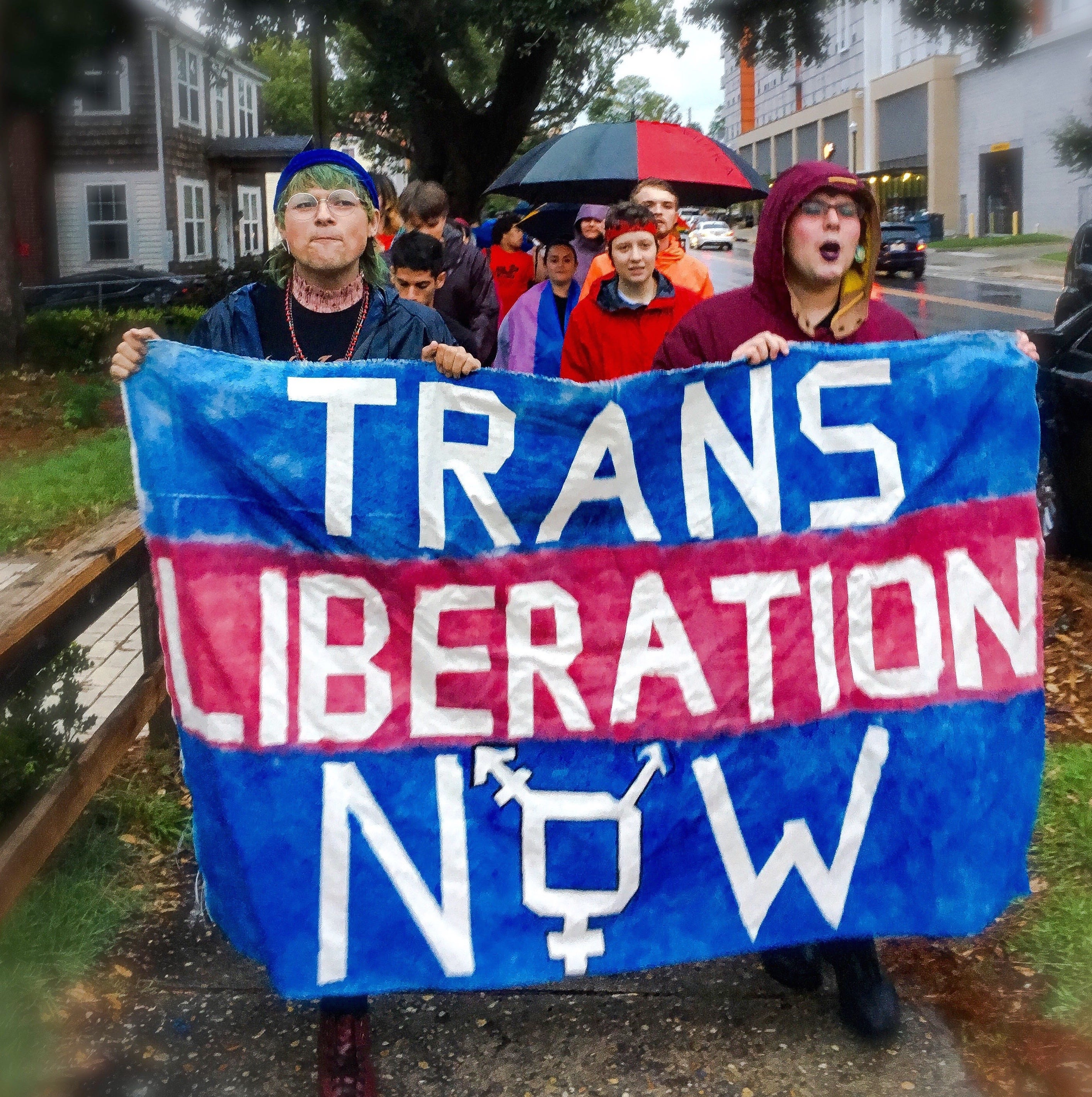Student and community activists march for transgender liberation