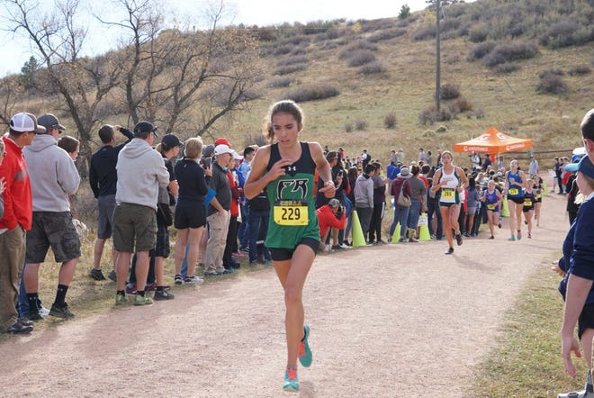 Fossil Ridge freshman Lena Fogarty finished 18th at Saturday's state cross country meet in Colorado Springs to help the SaberCats to a a fourth-place team finish.