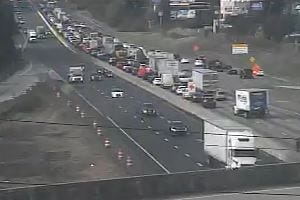 A wreck near Interstate 385 caused significant delays on Interstate 85 in Greenville County Saturday.