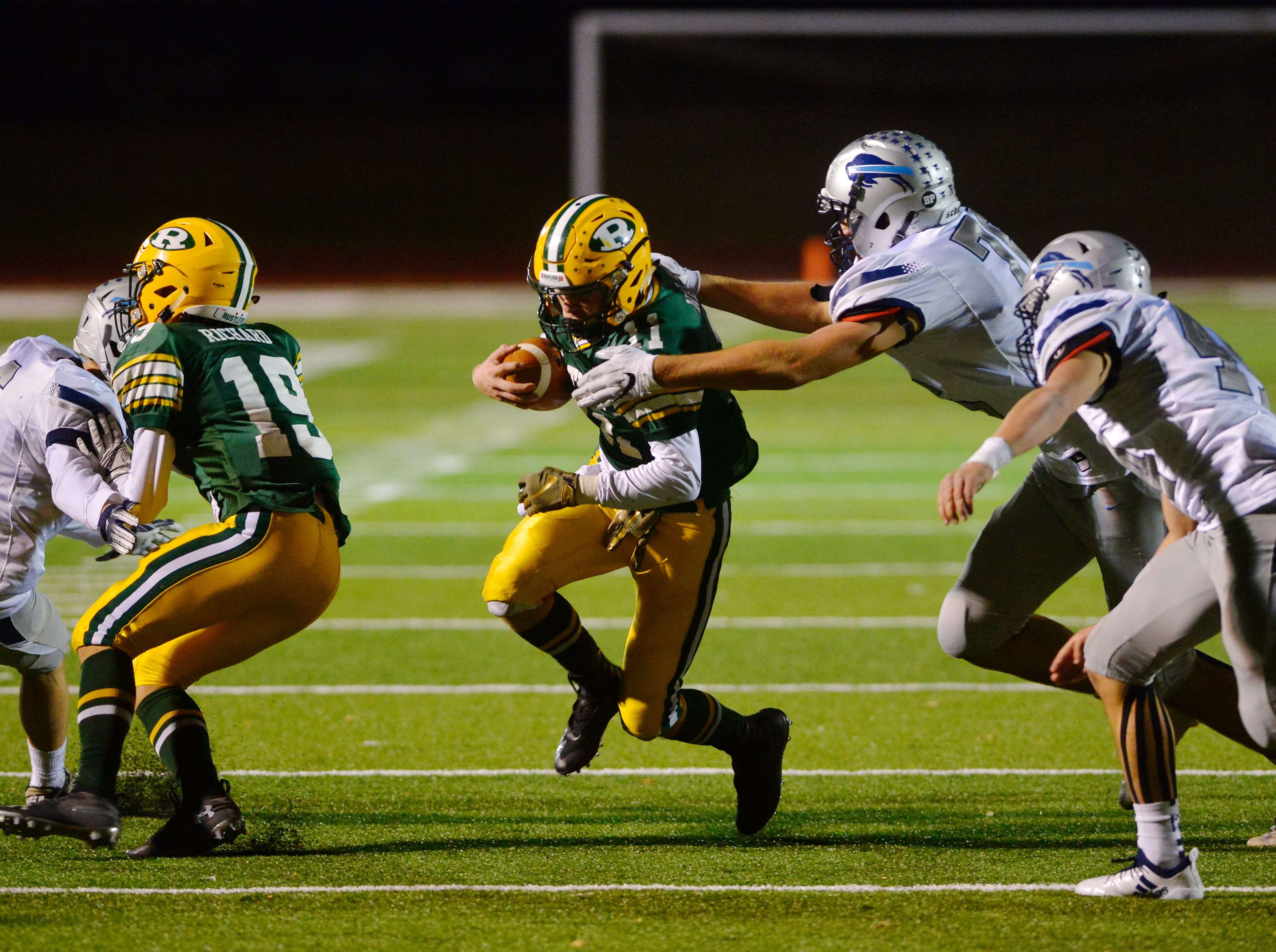 Crosstown football game between Great Falls High and CMR on Friday night at Memorial Stadium.