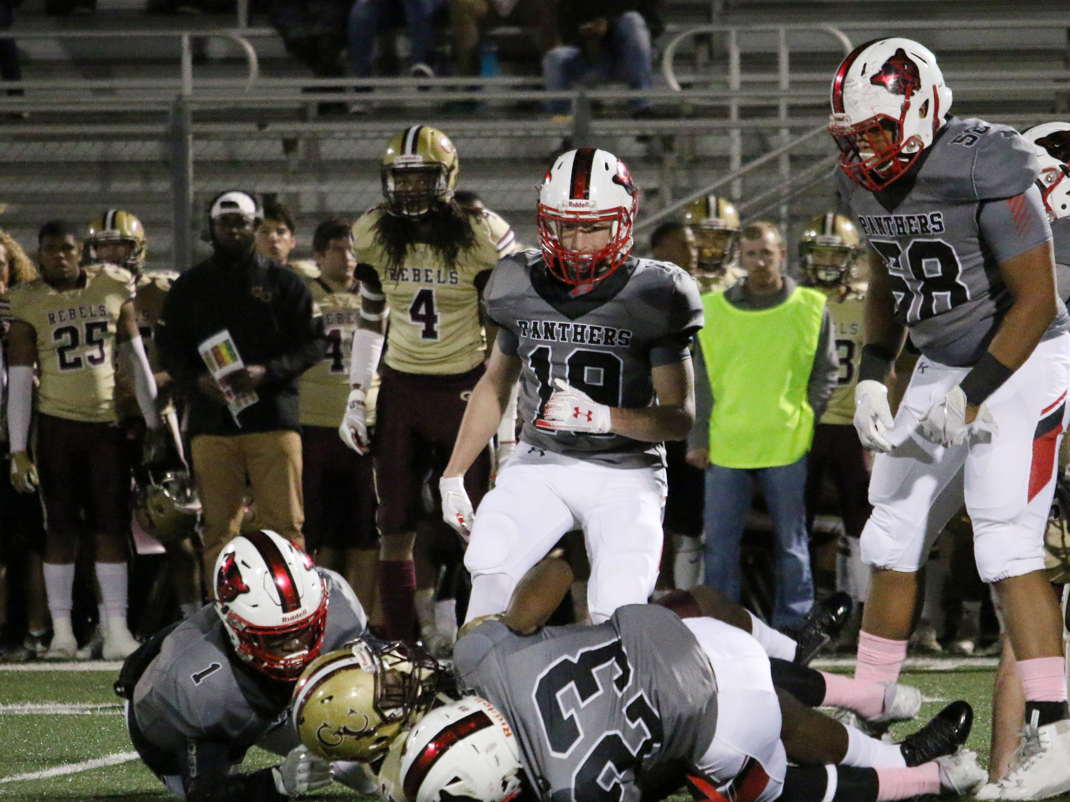 Petal's defense stops George County's offense from scoring on Friday.