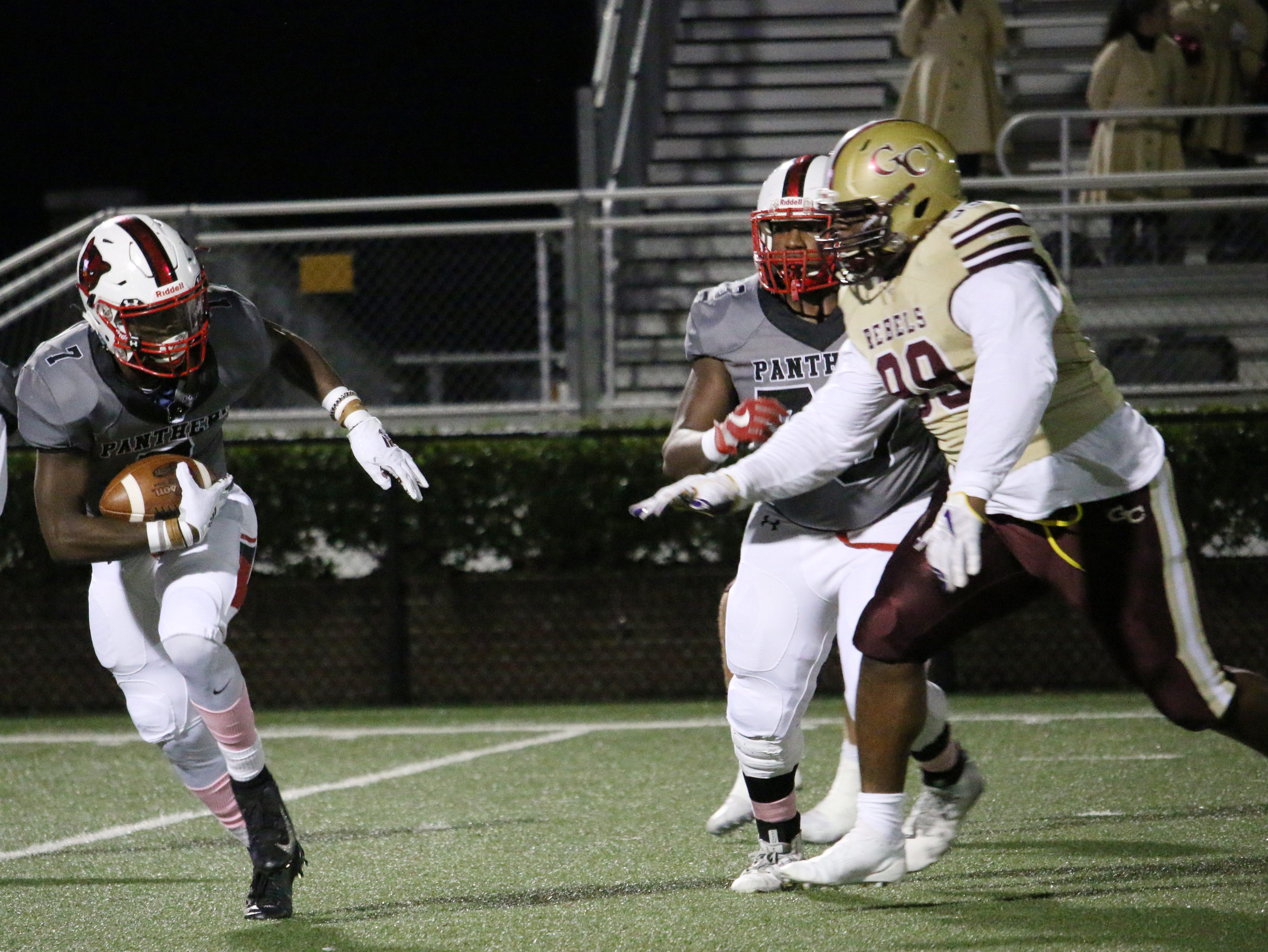 Petal's Rashad Handford rushes down the field against George County on Friday.