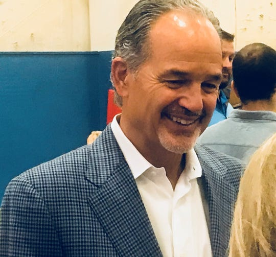 Former Indianapolis Colts coach Chuck Pagano spoke at a breakfast at the Boys & Girls Club of Boone County Saturday, Oct. 27, 2018.