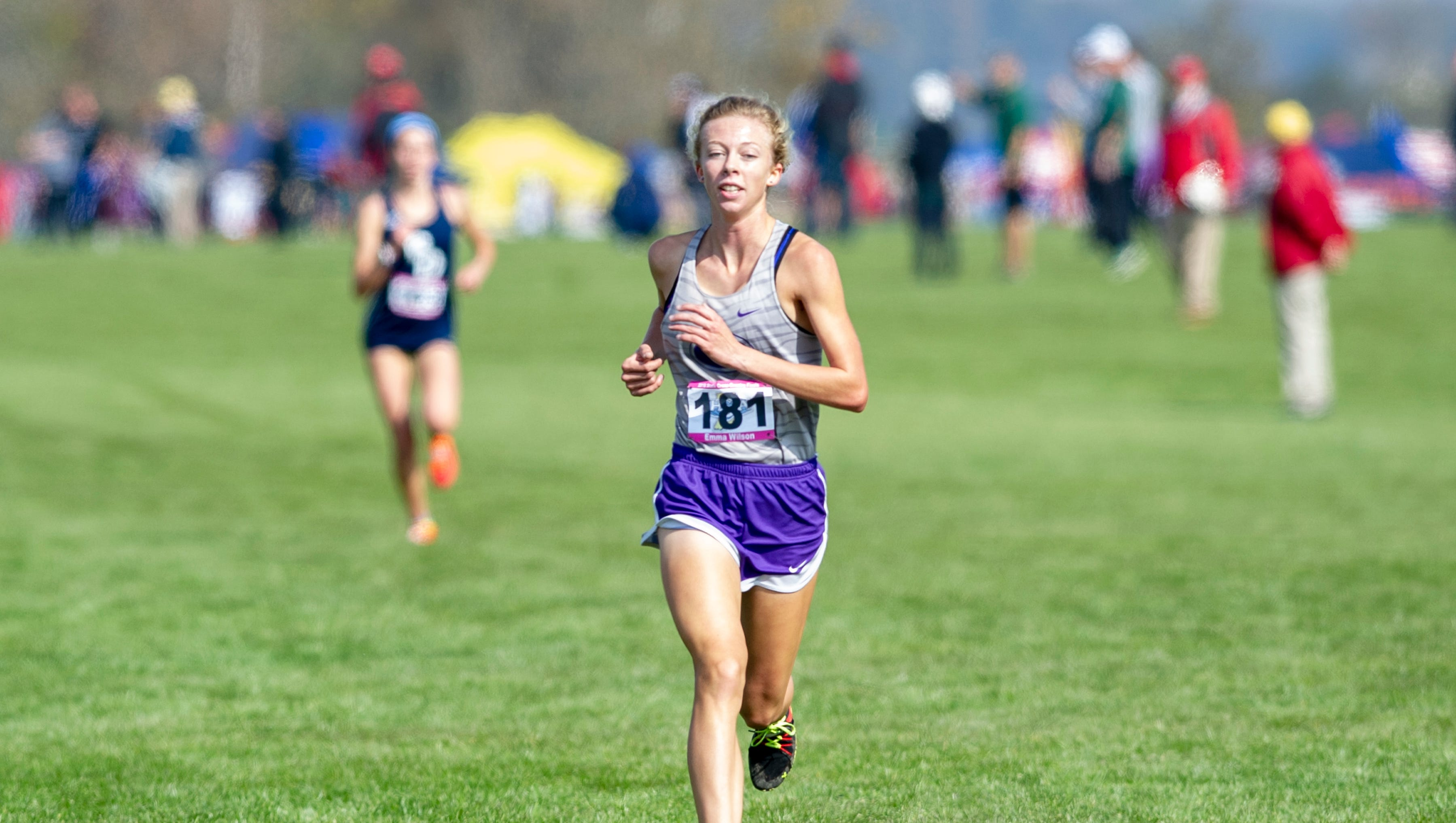 Greencastle High School runner Emma Wilson (181)...