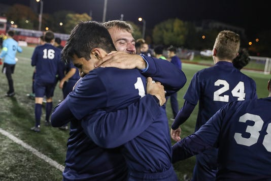 Class 2A boys soccer state finals between Hammond Bishop Noll and the Cardinal Ritter Raiders at Michael A. Carroll Stadium in Indianapolis, Friday, Oct. 26, 2018
