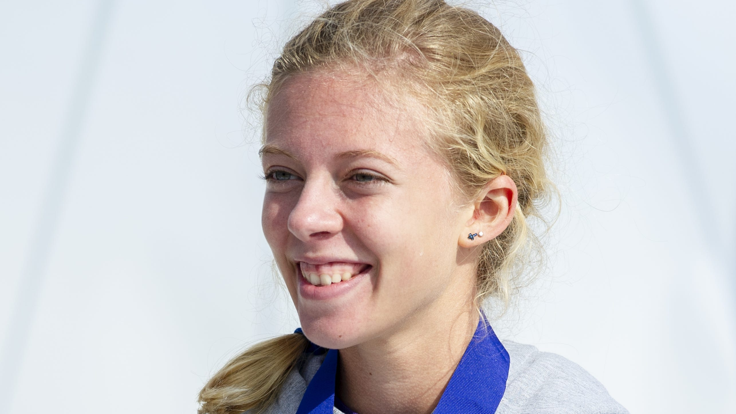 Greencastle High School runner Emma Wilson smiles...