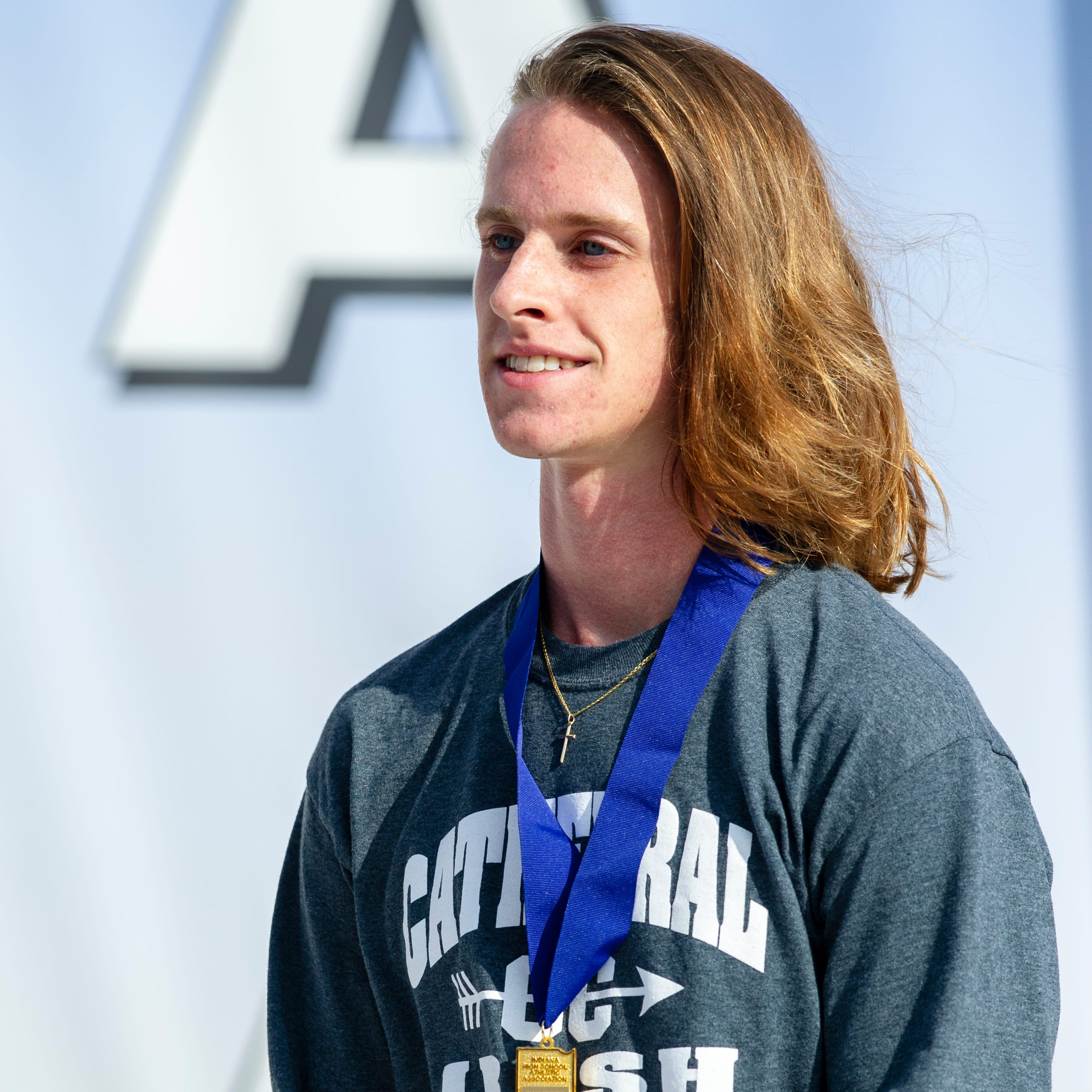 FILE – Cathedral runner Cole Hocker