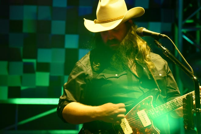 Chris Stapleton and his band perform at Thompson Boling Arena in Knoxville on Friday, Oct. 26, 2018.