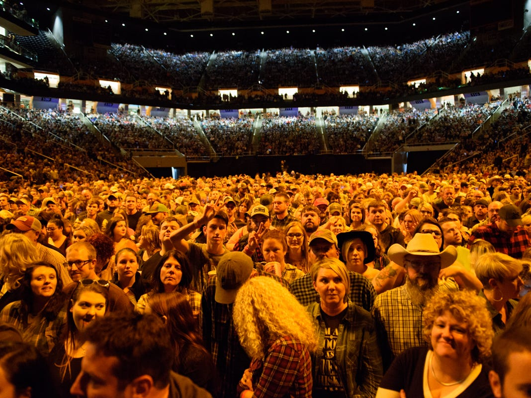 Fans enjoy the Christ Stapleton concert at Thompson Boling Arena on Oct. 26, 2018.