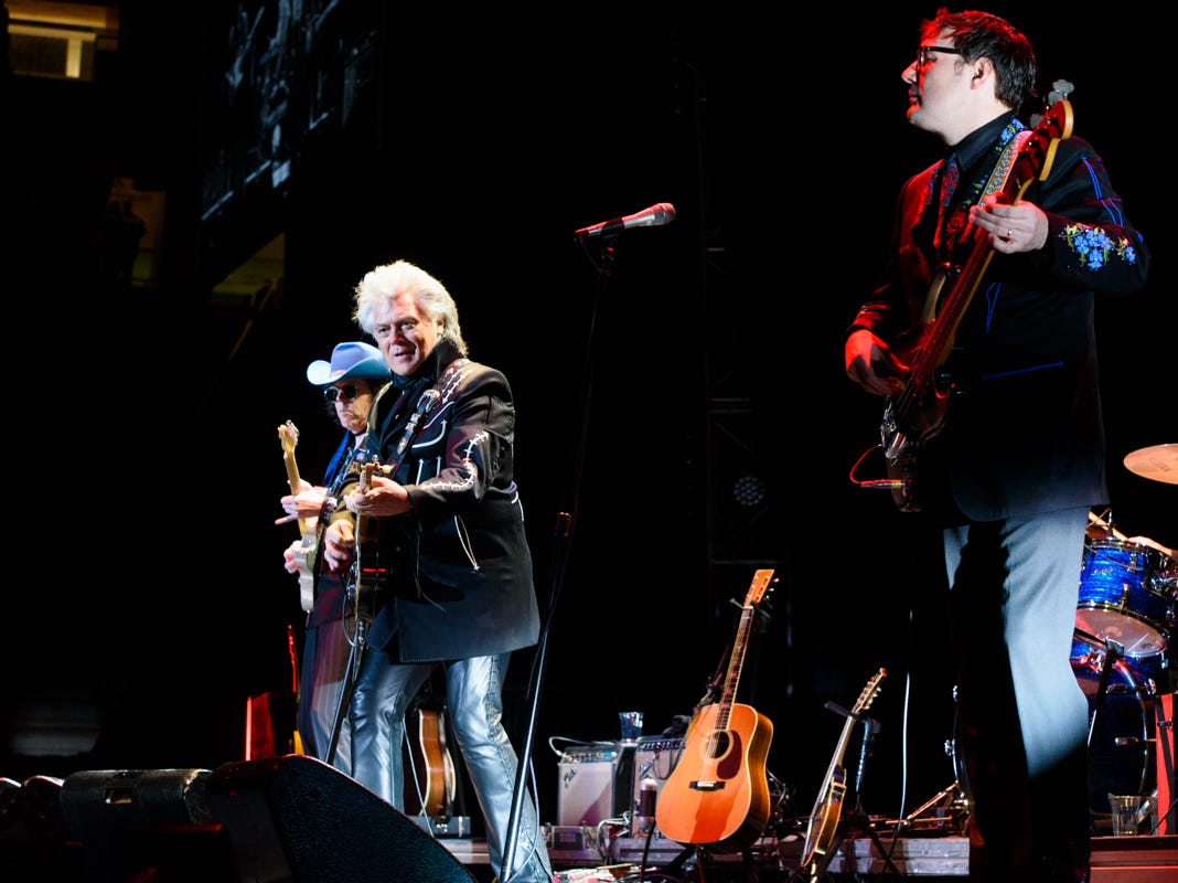 Marty Stuart and his band open for Chris Stapleton at Thompson Boling Arena on Friday, Oct. 26, 2018.