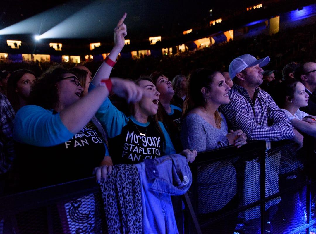 Fans enjoy the Chris Stapleton concert at Thompson Boling Arena on Friday, Oct. 26, 2018.
