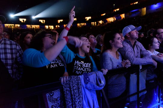 Fans enjoy the Chris Stapleton concert at Thompson Boling Arena on Oct. 26, 2018.