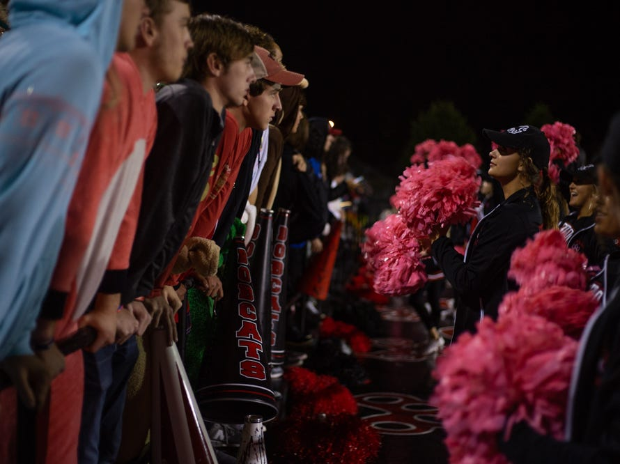 The Central high school student and cheer sections 9during the Central versus Gibbs high school football game at Central high school in Knoxville Friday Oct. 26, 2018.
