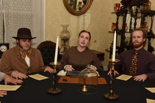 The seance begins at Mabry-Hazen House on Friday, Oct. 26 with Madame Blavatsky, center, leading the experience.