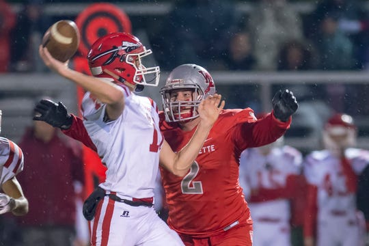 Joey Kidwell causes havoc in the the second round of the sectional between West Lafayette and Twin Lakes