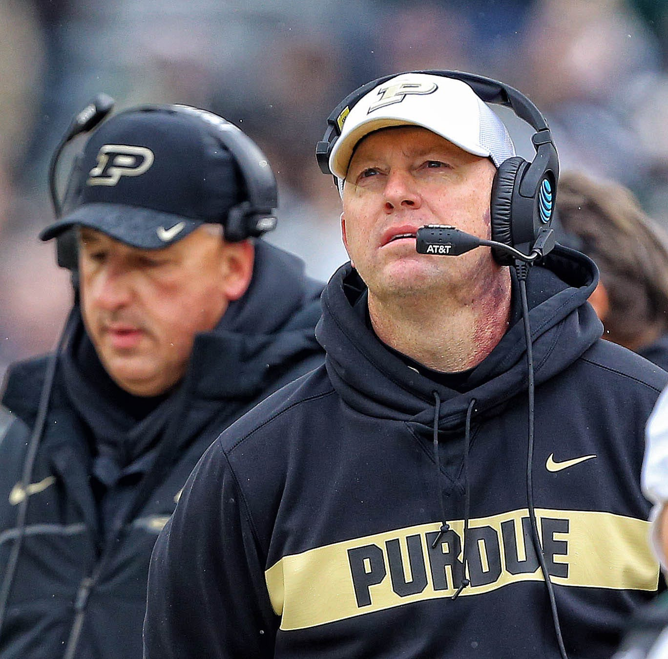 How Purdue coach Jeff Brohm addressed Louisville's coaching job during his Monday press conference