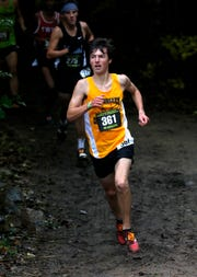 Tri-Valley's Ryan Meadows runs in the Division I race at last month's regional meet. Meadows is competing in his first state meet, looking to place in the top 25 for an All-Ohio finish.
