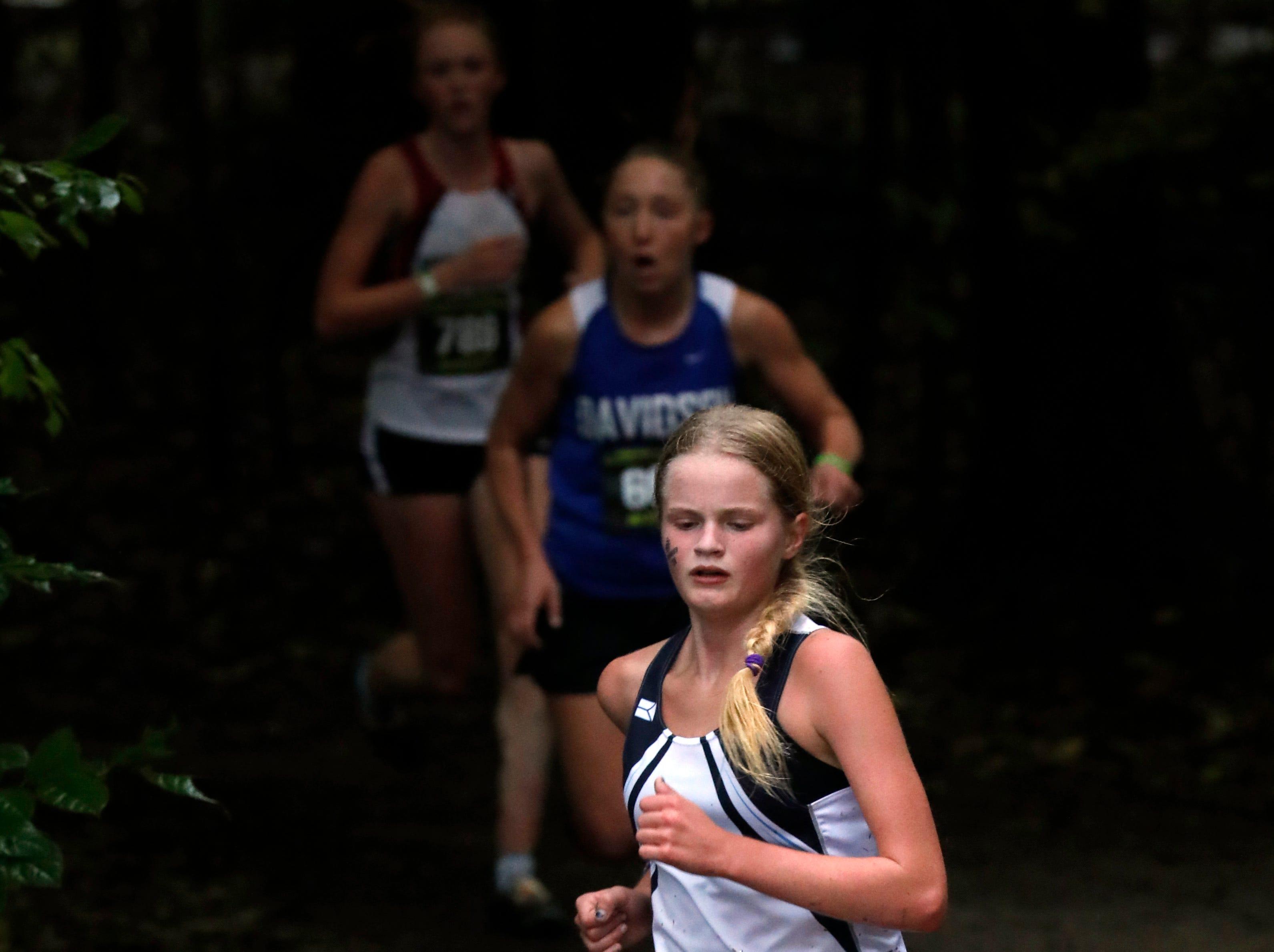 Granville's Dylan Kretchmar runs in the Regional Cross Country meet Saturday, Oct. 27, 2018, at Pickerington North High School in Pickerington.