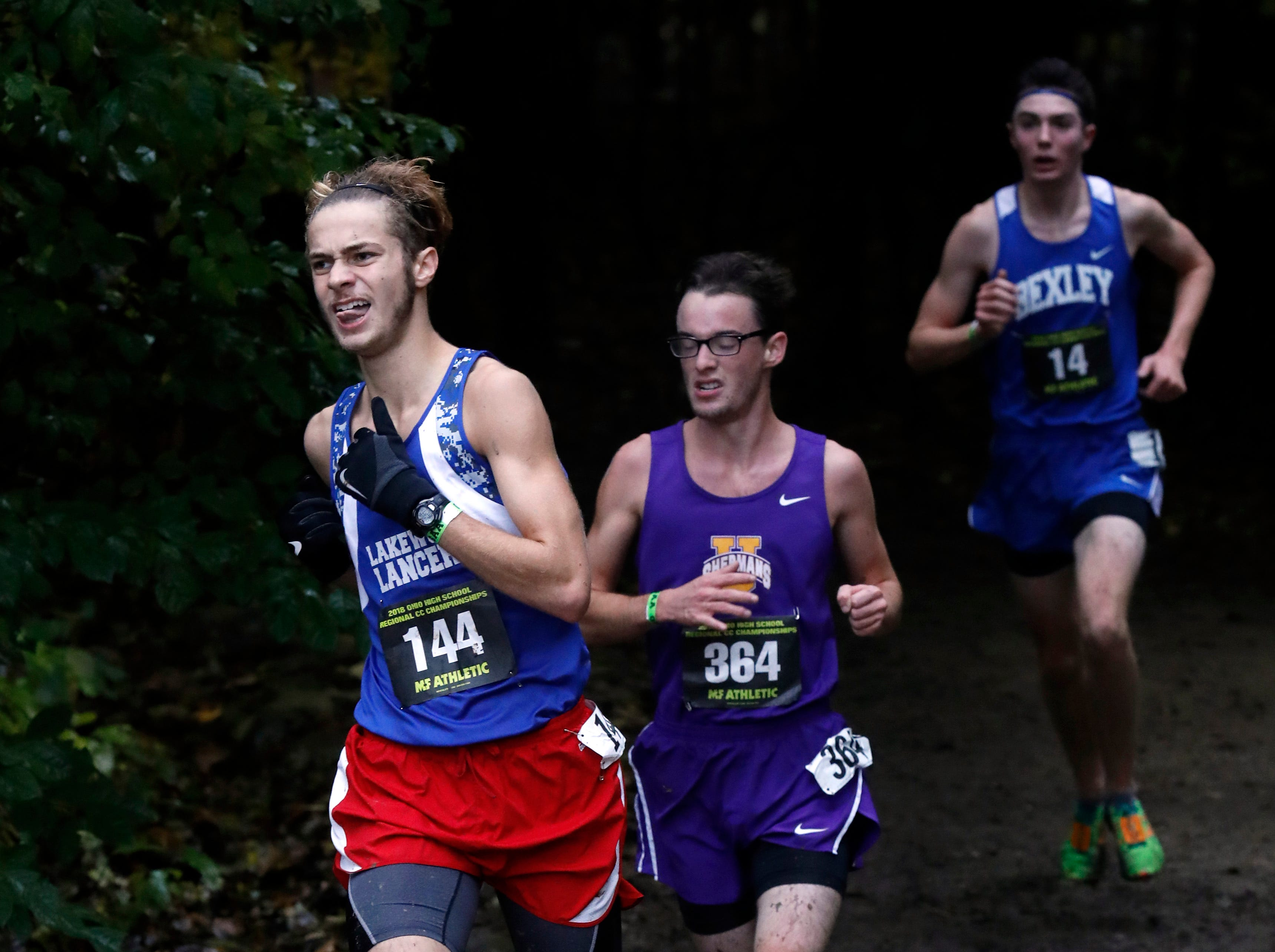 Lakewood's Anthony Toskin runs in the Regional Cross Country meet Saturday, Oct. 27, 2018, at Pickerington North High School in Pickerington.
