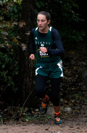 Fisher Catholic sophomore Natalie Boyden, who qualified for the Division III state cross country meet, was the Mid-State League-Cardinal Division Runner of the Year.