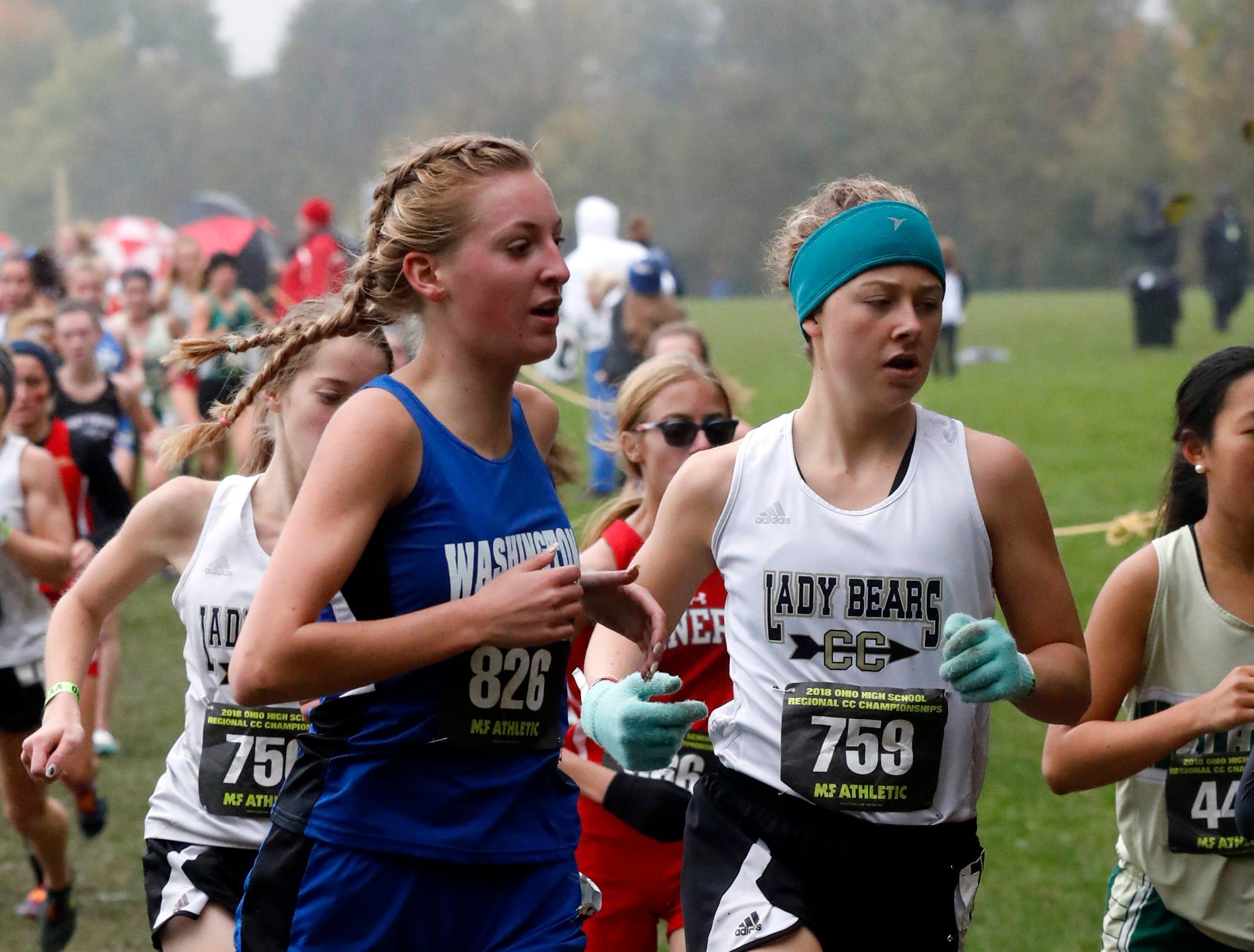 River View's Aliya Stevens runs in the Regional Cross Country meet Saturday, Oct. 27, 2018, at Pickerington North High School in Pickerington.